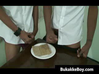 Verbazingwekkend aziatisch homo hardcore porno video-