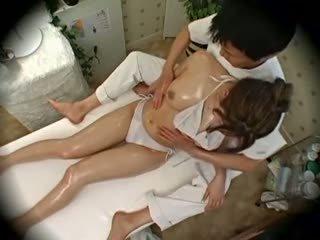Spycam موضة نموذج seduced بواسطة masseur 1