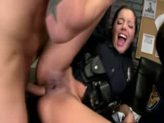 Sexy police women getting anally pumped and loving it