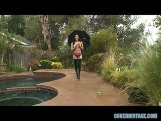 Asian Slut Jayla Starr Takes On Five Cocks And Winds Up Covered In Cum