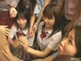 japán, lányok, szomszéd