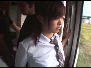 Modelka macane w pociąg