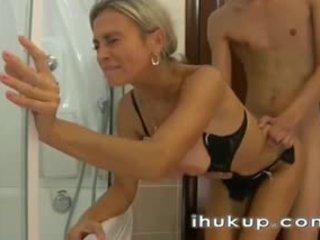 webcam-, blondă, amator