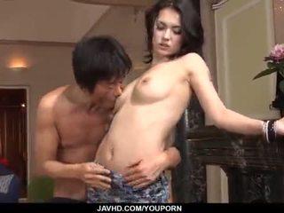 น่าประหลาดใจ maria ozawa receives two cocks ข้างใน เธอ