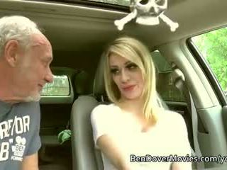Hot blonde Chessie Kay takes old cocks