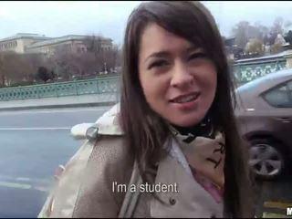 Amatöör tšehhi tüdruk railed jaoks mõned raha