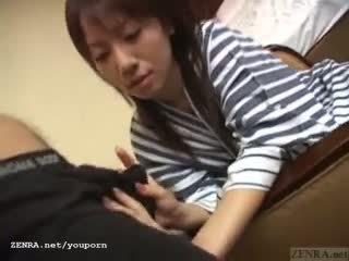 Subtitled unfaithful japanese wife giv...