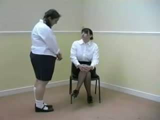 Schoolgirl gets her bottom warmed