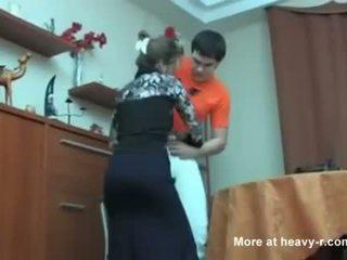 Russian mom kejiret her son masterbating