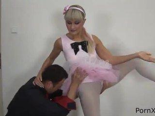 Freaky ballet dancer anita has gemacht liebe wazoo während die rehearsal