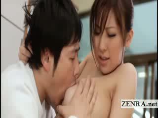 Besar titty jepang sultress harumi asano has melon suckled
