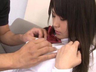 Telanjang warga asia gadis sekolah mempunyai zakar/batang sucked off