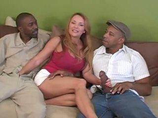 big tits, big cock, interracial
