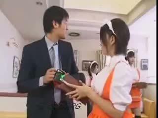 brunetta, giapponese, uniforme