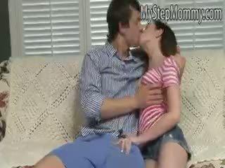 kuum blowjob, lesbian, täis threesome
