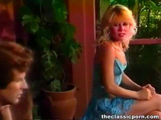 Charming retro blondynka gorące ujeżdżanie