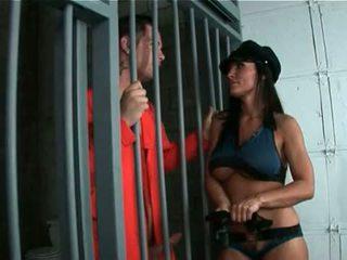 Horký prdel maminka hrát policejní žena rides obrovský dospívající čurák