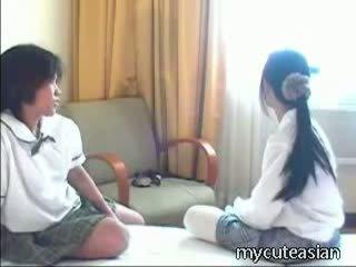 amador, adolescente, asiático