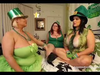 Angelina Castro St. Patricks day 3way Fuck fest!
