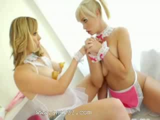 Blonde princesses chocolatehole acrobats