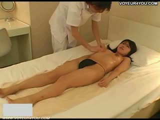 Vaginal massage getting her off