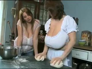 Milena and Nadine having fun with their boobs