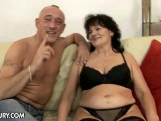 Lusty Grandmas: Horny grandpa hot for hairy granny Helena May