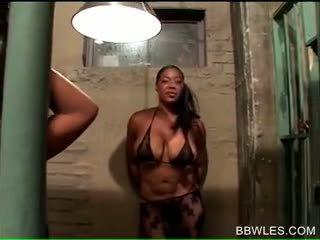 Afro BBW Horny Hoes Setting Lesbian Ga...