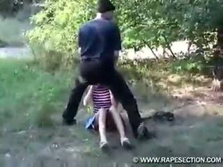 Teen Forced In A Field