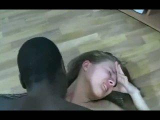 brunetta, nero e ebony, sborrata