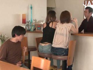 японски, групов секс, празнене